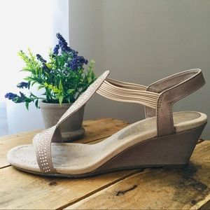 Beautiful Taupe Summer Wedges!